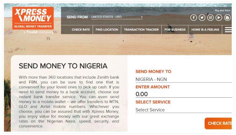 xpress money to nigeria