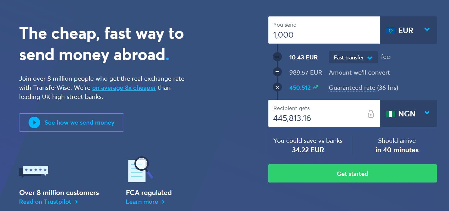 send money via TransferWise