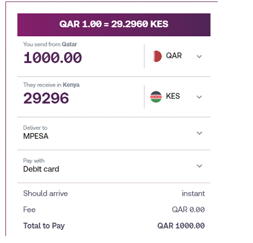 Skrill money transfer to kenya from Qatar