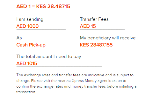 cheapest ways to send money to Kenya from UAE