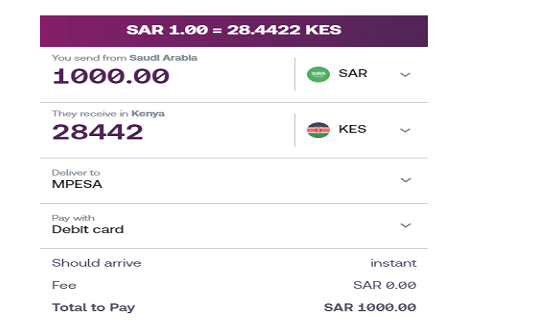 send money to kenya from saudi arabia
